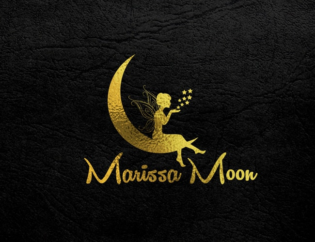 moon and angel logo