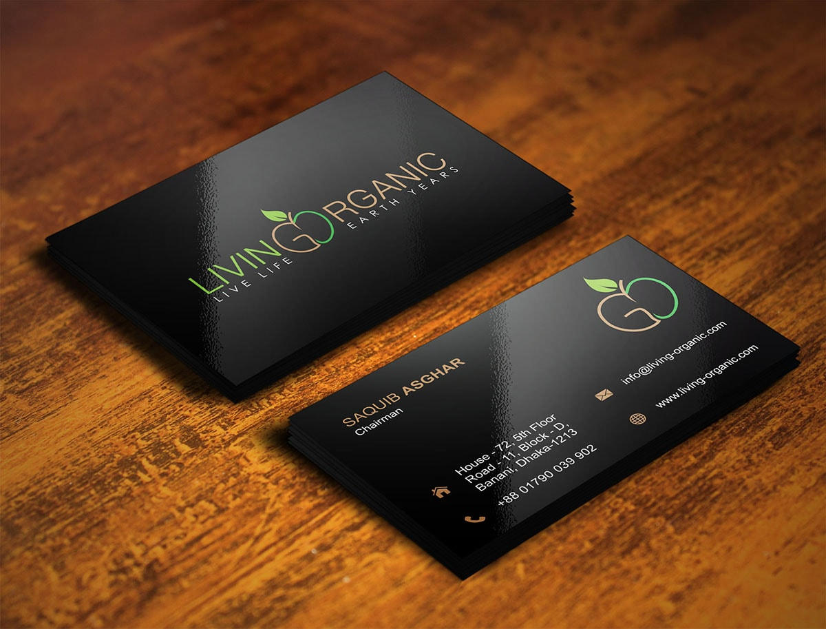food business card design